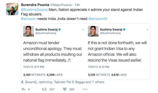 Was Sushma Swaraj's Action Against Amazon Justified ? ~ News Aur Chai