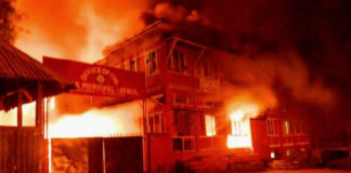 Agitation in Nagaland Fire Image