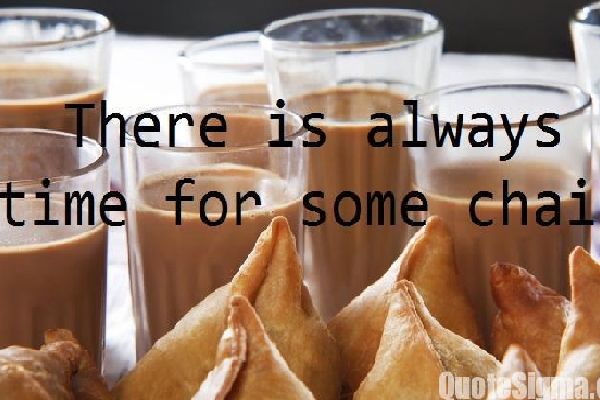 Tea and Samosa