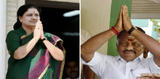 Sasikala and Panneerselvam