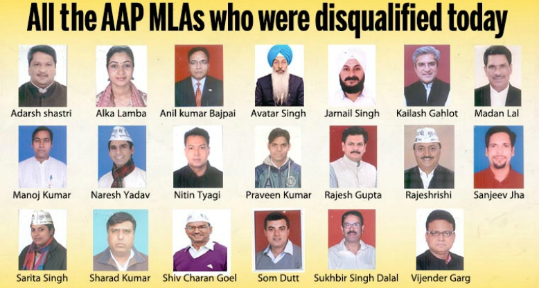 Disqualified AAP MLAs