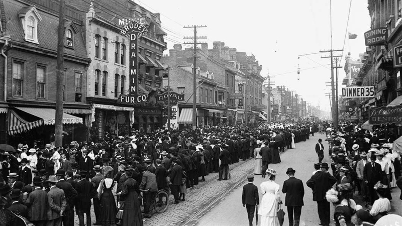 File photo of a Labour Day parade in Canada in 1900. The International Socialist Conference declared May 1 as the International Workers' Day and declared it a holiday at a meeting in 1889. (Wikimedia)