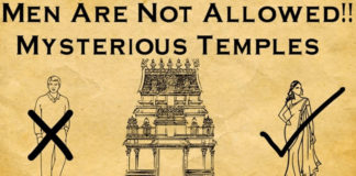Men Not Allowed In Temple