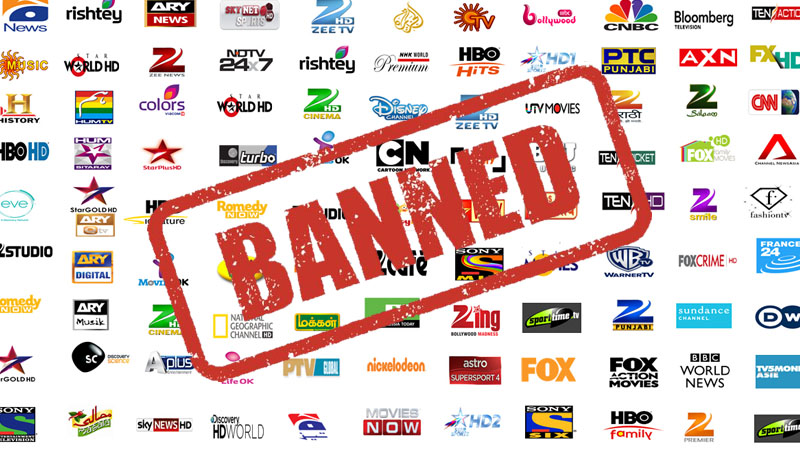 Indian Channel Banned in Pakistan